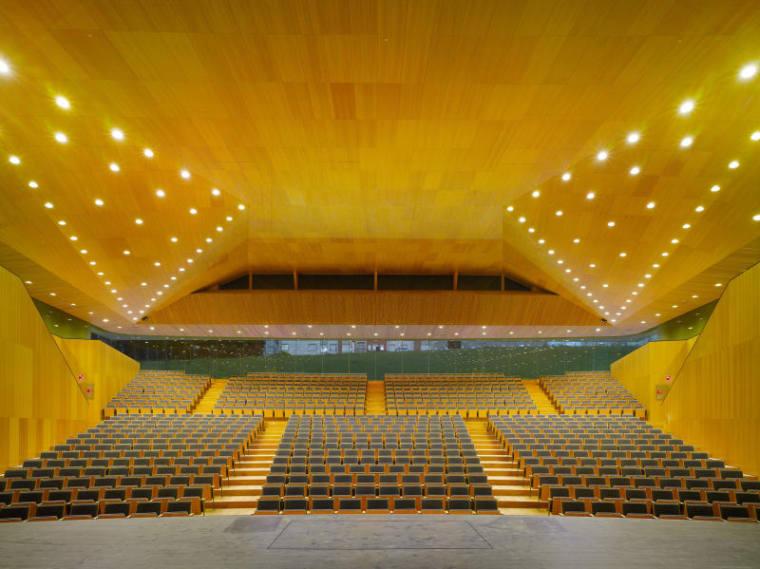 多面综合型礼堂建筑,简单外表下的复杂功能_4