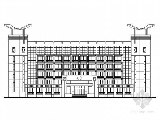 某市武警支队六层办公楼建筑方案图