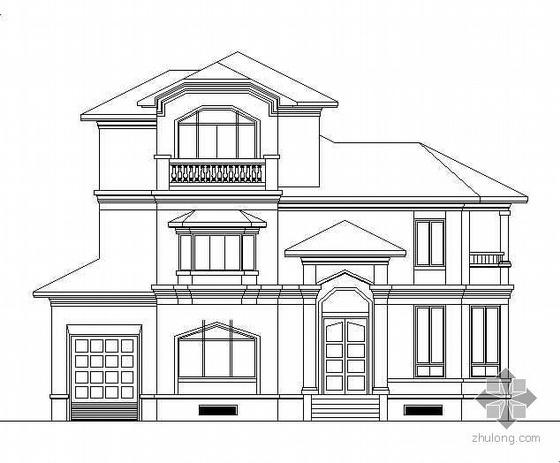 某三层欧式小别墅建筑扩初方案