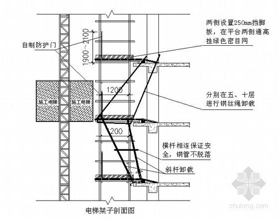 室外电梯安装施工技术交底