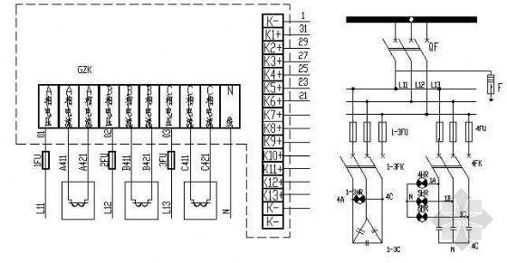 低压无功补偿装置电气原理图