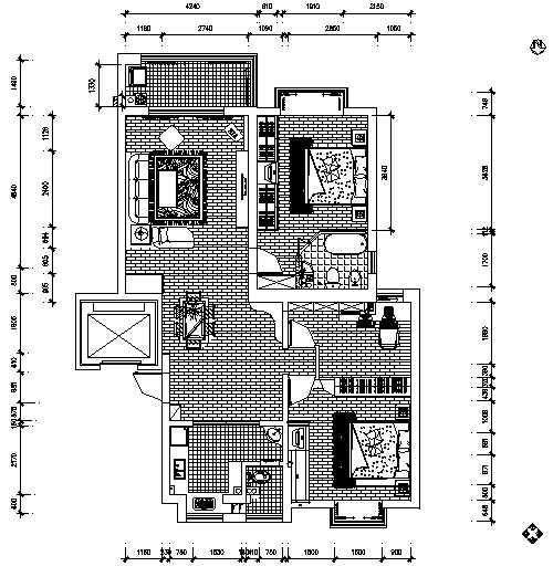 新古典二室两厅装修图