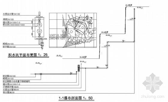 某工程喷泉给排水图纸