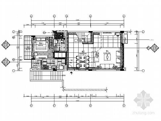 [广州]度假区现代三层别墅室内设计装修图