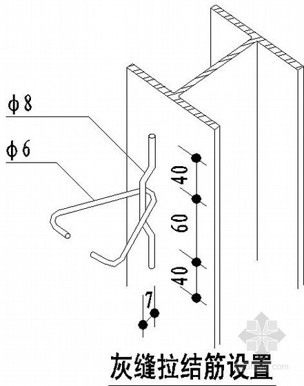 钢结构轻质填充墙连接节点详图
