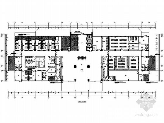 [广州]综合性园林式现代风格医院住院楼室内装修施工图(含水电图)