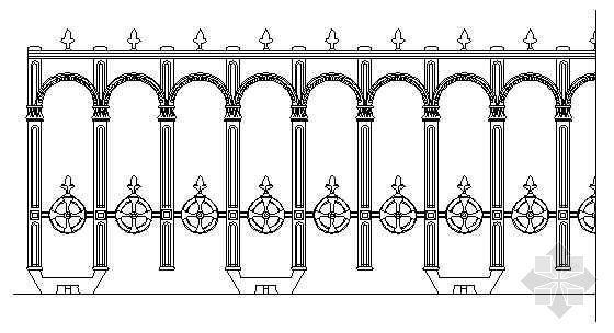 铁艺栏杆详图03