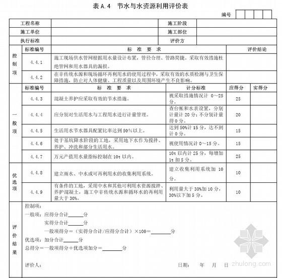 [中建]建筑工程绿色施工评价标准(附评价表)