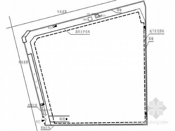 商业广场基坑排桩支护及降水施工方案(专家论证)