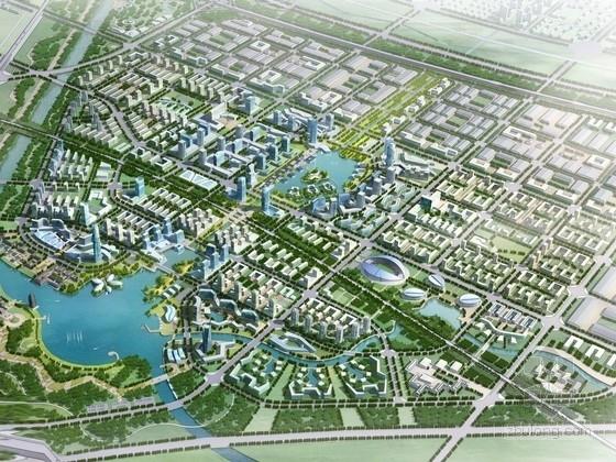 [河南]指状放射网络结构城市综合体规划及单体设计方案文本