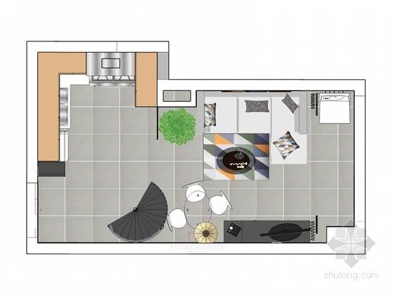 长方形小跃层住宅室内设计方案