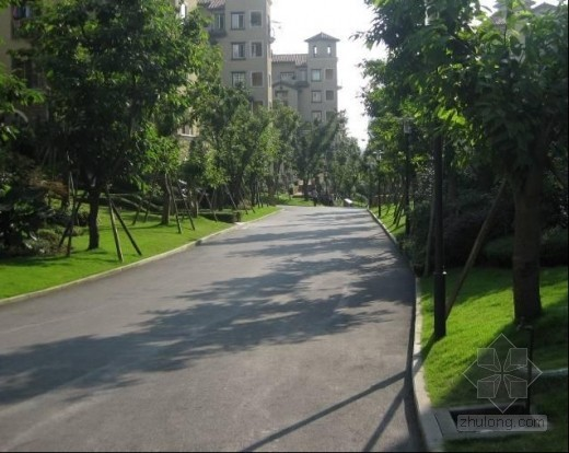 住宅小区路面铺装工程施工质量照片