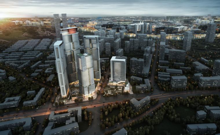[四川]成都东大街地块居住区规划及建筑设计方案文本(PPT)