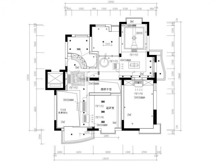 vrv多联机空调系统设计资料下载-多层小别墅空调通风系统设计施工图