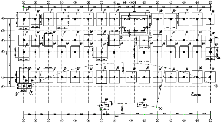 医院门诊及住院楼框架结构施工图(CAD,22张)