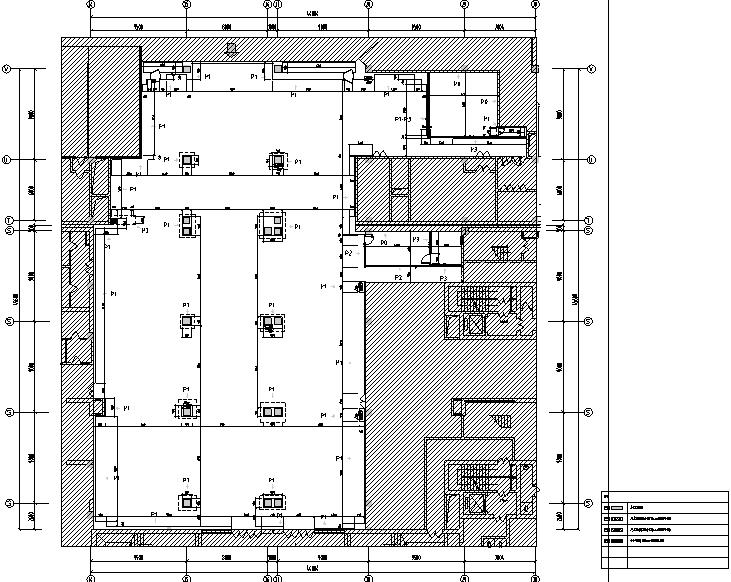 4套迪卡侬设计施工图(附效果图+设计手册)-隔墙布置图