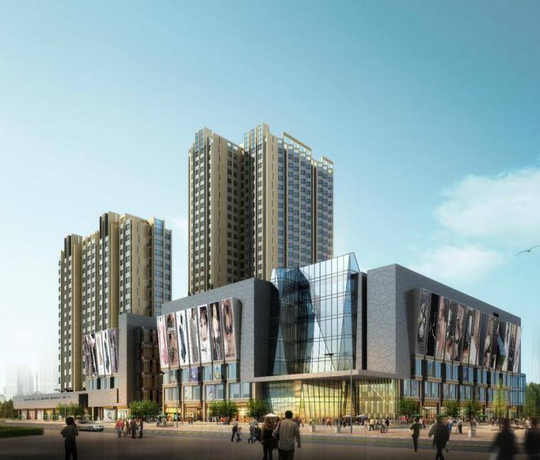 牡丹江景福-新都会商业综合体建筑设计模型