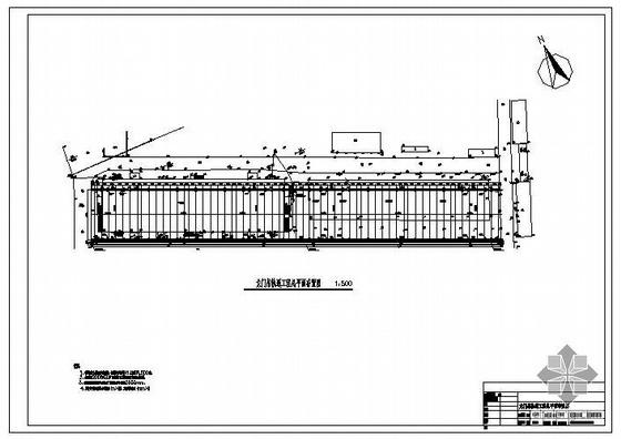 广东某35米跨龙门吊轨道工程结构图