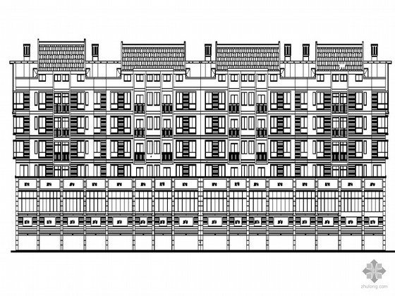 某沿街六层商住楼建筑施工图
