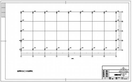 某24米跨带女儿墙的钢结构仓库设计图