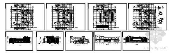 某四层图书馆建筑设计方案图-4