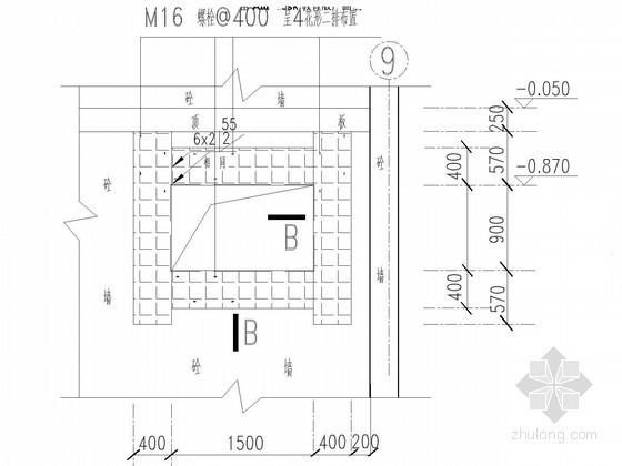 混凝土墙开洞加固节点详图