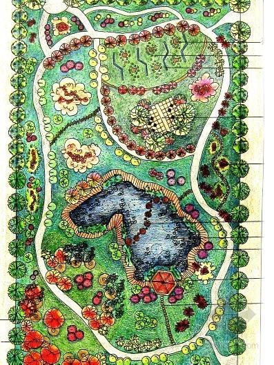 [广西]校园绿地快题设计
