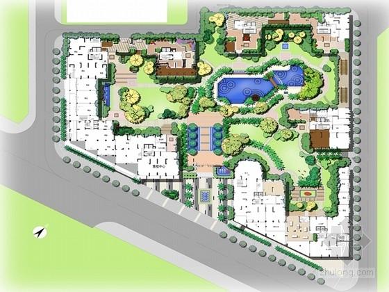 [广东]现代简约动感别墅花园绿化规划设计方案(独家首发)