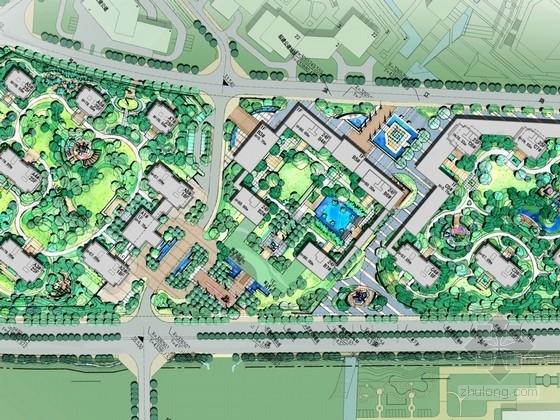 [浙江]现代简约高档住宅区景观概念设计(著名公司设计)