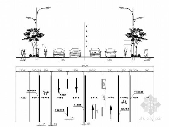 [四川]城市次干路全套施工图设计116张(交通 照明 电气)