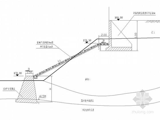 河岸挡护工程全套施工图35张(多样式挡墙 护坡)