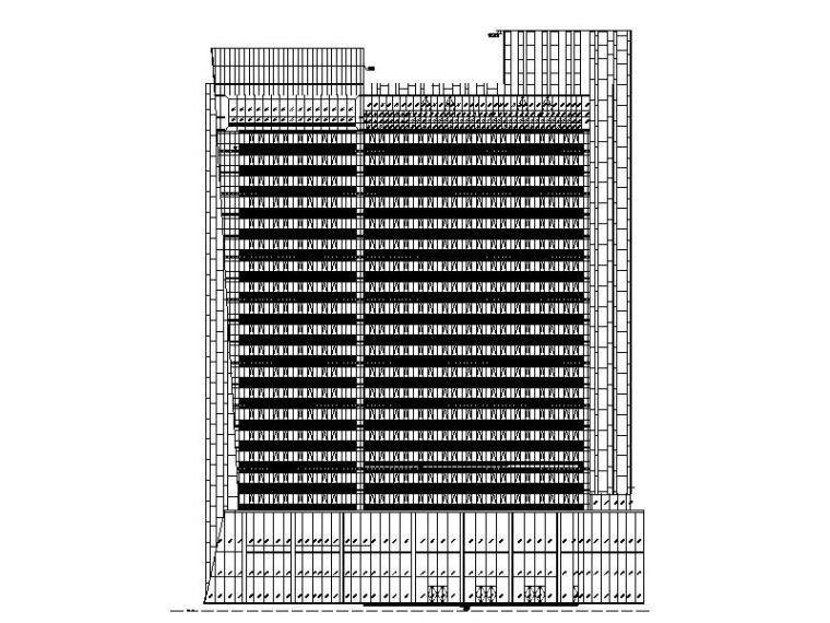 [广东]现代风格高层酒店建筑设计施工图
