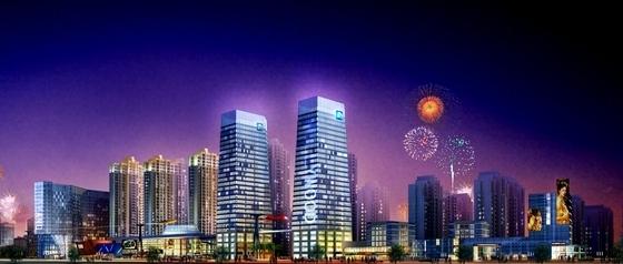 超高层住宅及商业建筑效果图