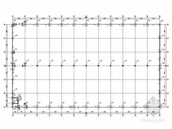 局部夹层施工图资料下载-27米跨门式刚架结构厂房结构施工图(有夹层)