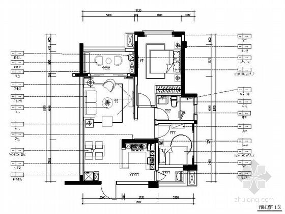 [惠州]现代风格温馨两居室样板间室内装修图(含效果)
