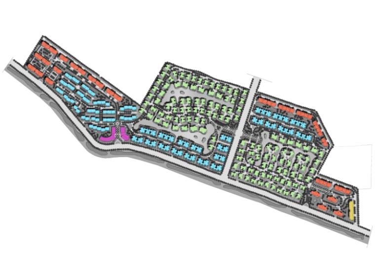 简欧式风格大型别墅区总平面图