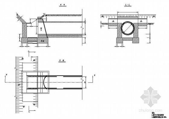 铪圆管涵边沟跌水井洞口节点详图设计