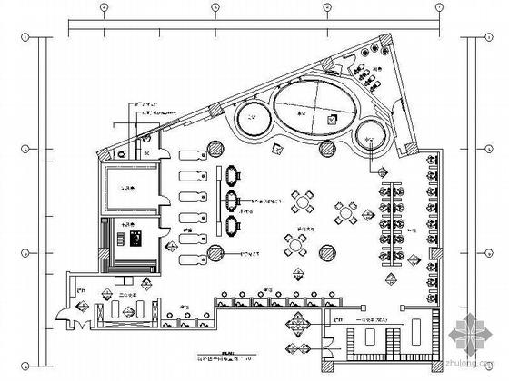 400平米洗浴中心装修图(含效果)