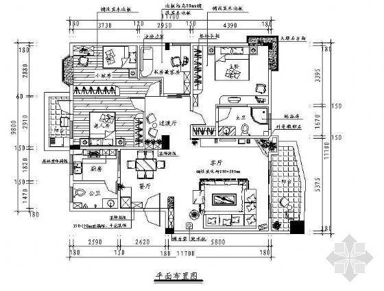 一套值得参考的四居室家装图