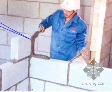 非承重填充墙砌体干法施工工法(蒸压加气混凝土砌块)