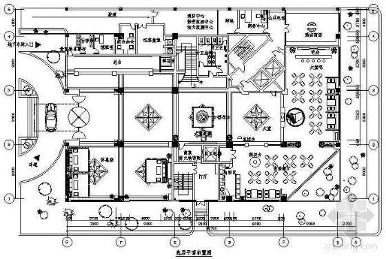 宾馆平面图1