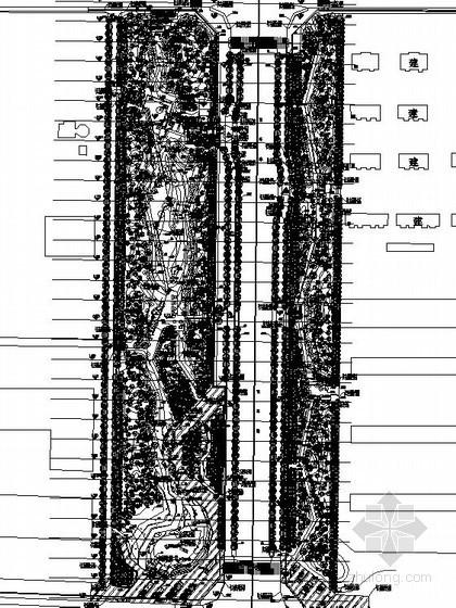 [二连浩特]某道路植物种植施工图