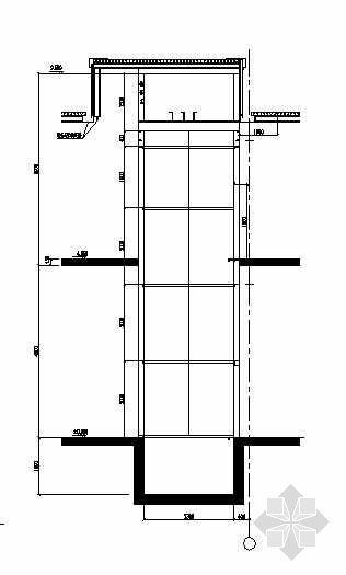 某钢结构电梯井结构图纸