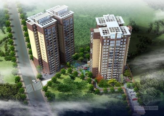 某十八层一梯六户住宅楼建筑扩初图(含效果图)-图6