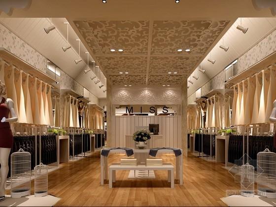 女装服装专卖店3d模型下载
