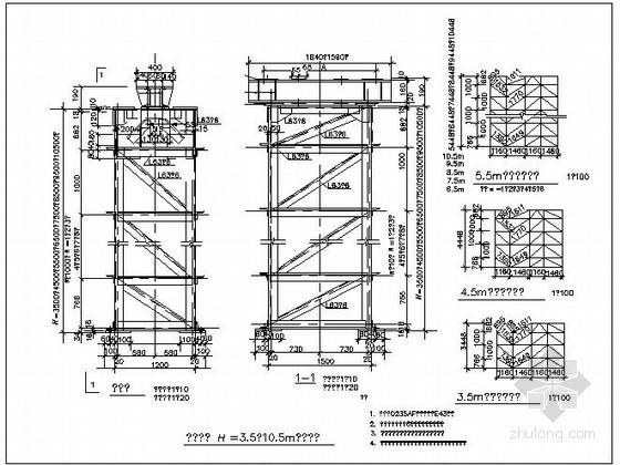 某钢框架梁与梁连接节点构造详图