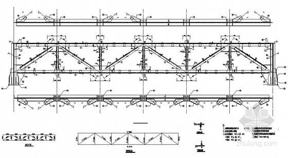 山西某89米钢桁架皮带走廊及支架结构设计图