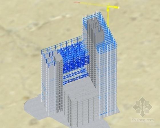 核心筒结构商业楼钢结构安装施工方案(钢骨柱、型钢柱、钢桁架等)