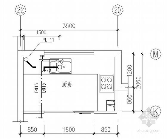 山东某11层住宅楼水暖施工设计图图片