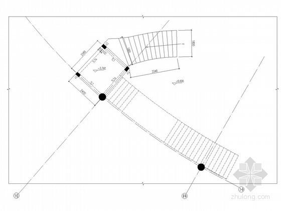 异形板板式楼梯节点构造详图